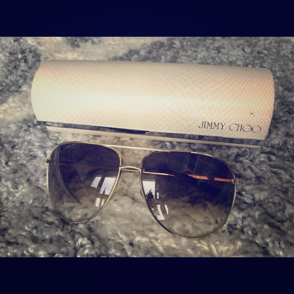 Jimmy Choo Accessories - Jimmy Choo Aviator Sunglasses